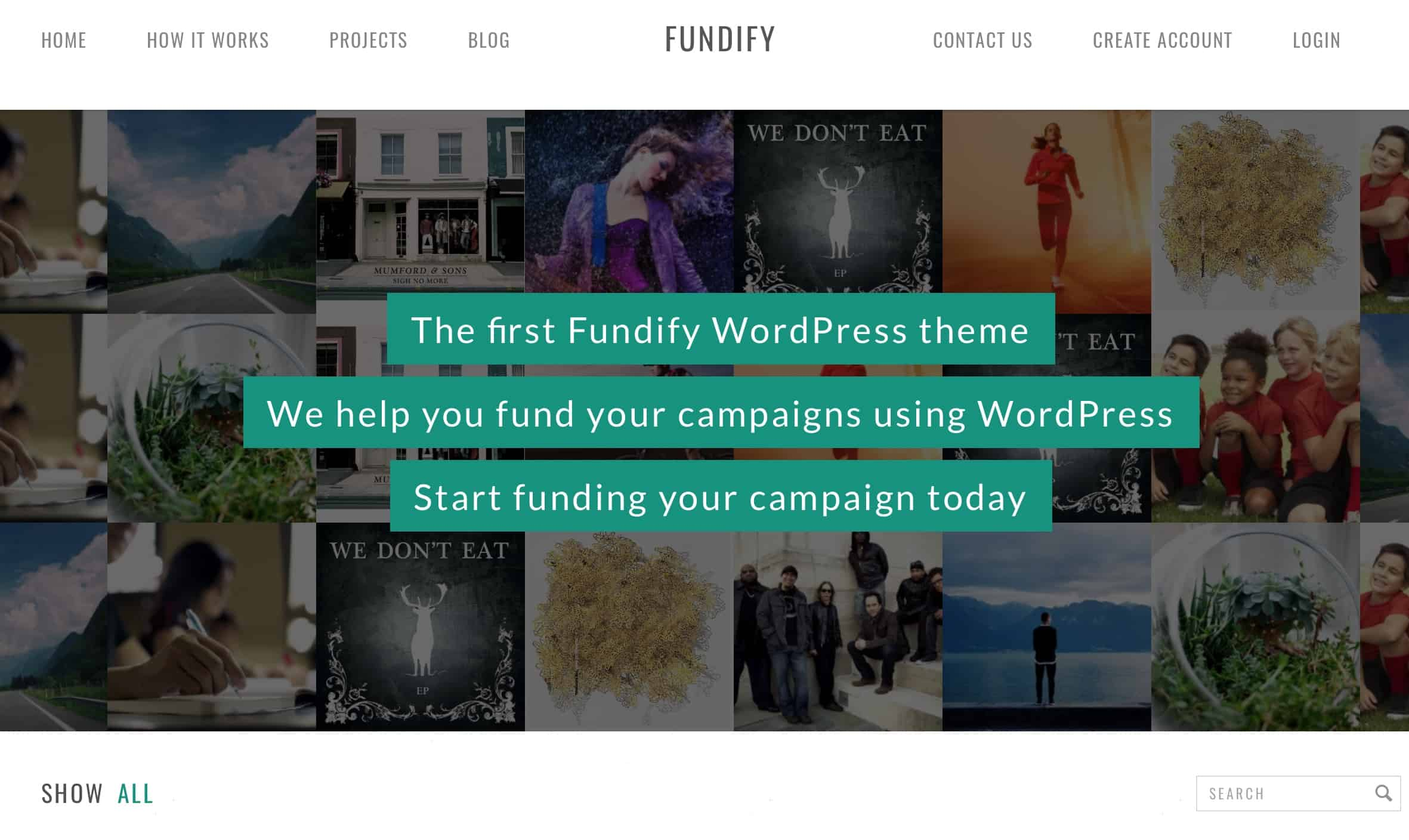 crowd funding wp Fundify theme