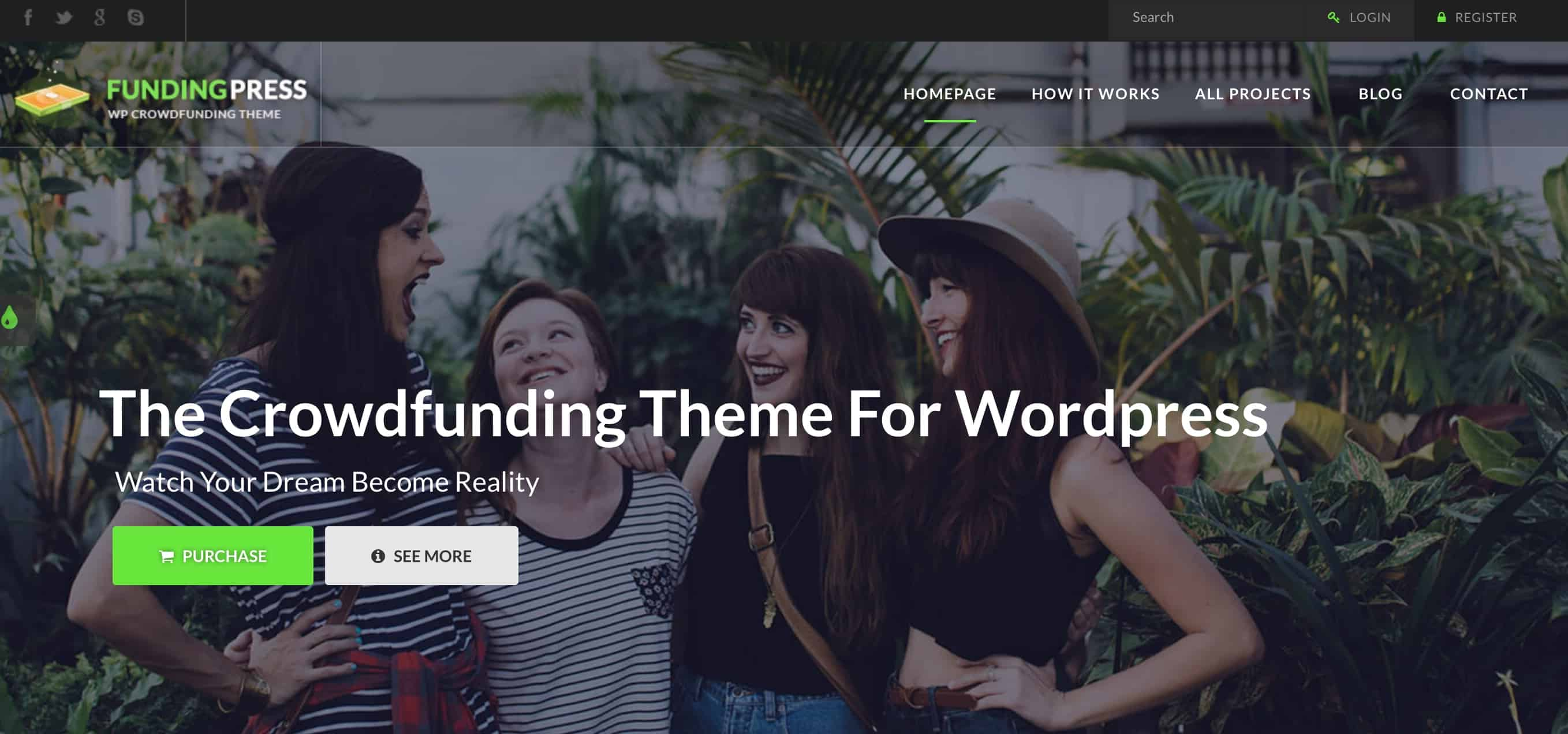 FundingPress WordPress Theme Kickstarter