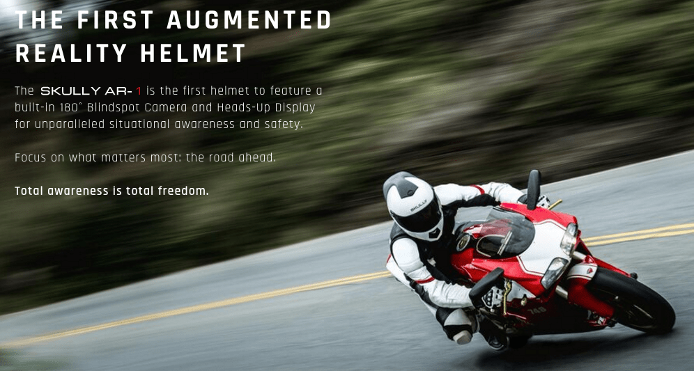 Skully AR-1 augmented reality motorcycle helmet