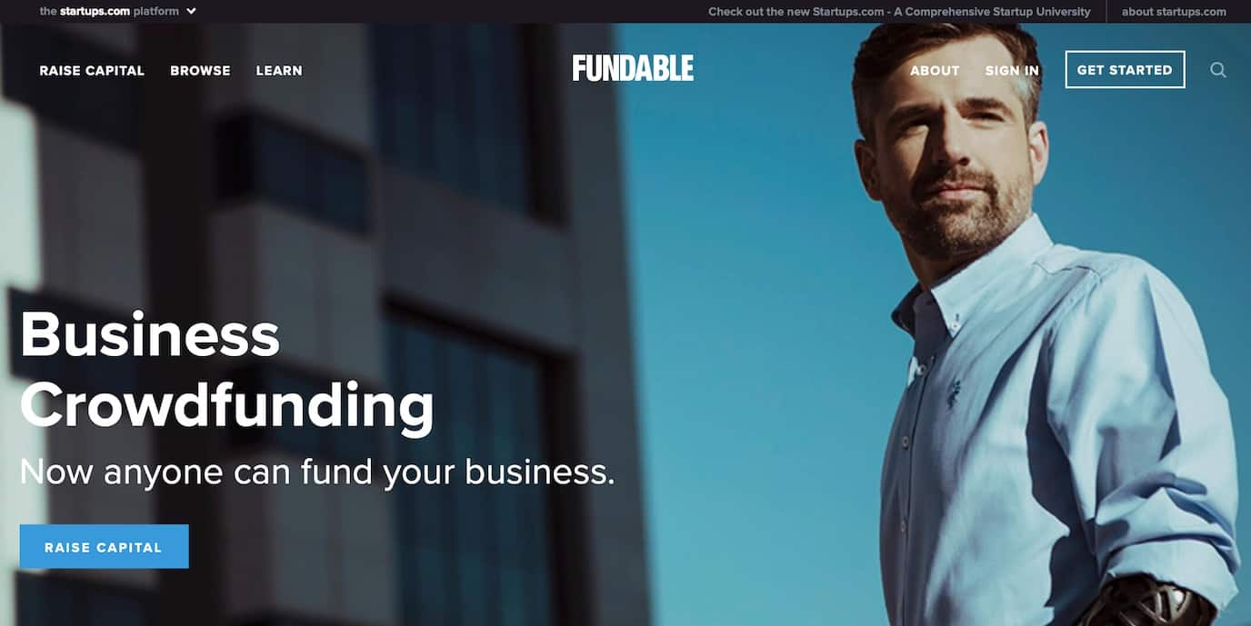 Fundable equity crowdfunding