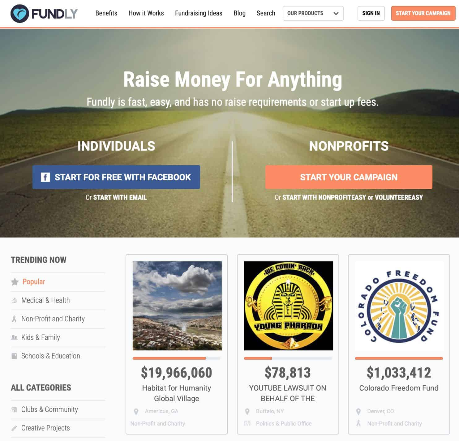 Fundly Platform for Money Raising