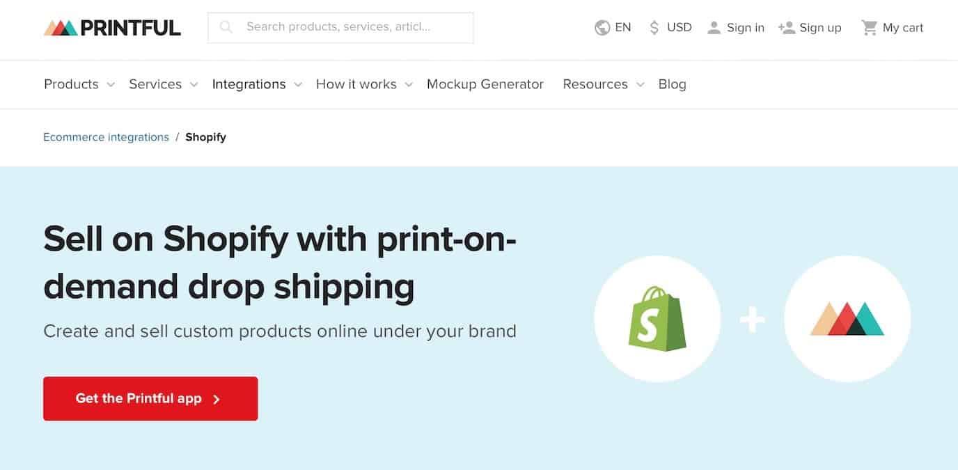 Printful Shopify Integration