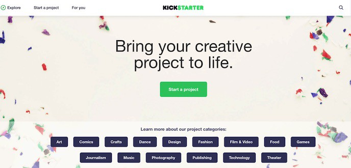 Kickstarter Creative Platform