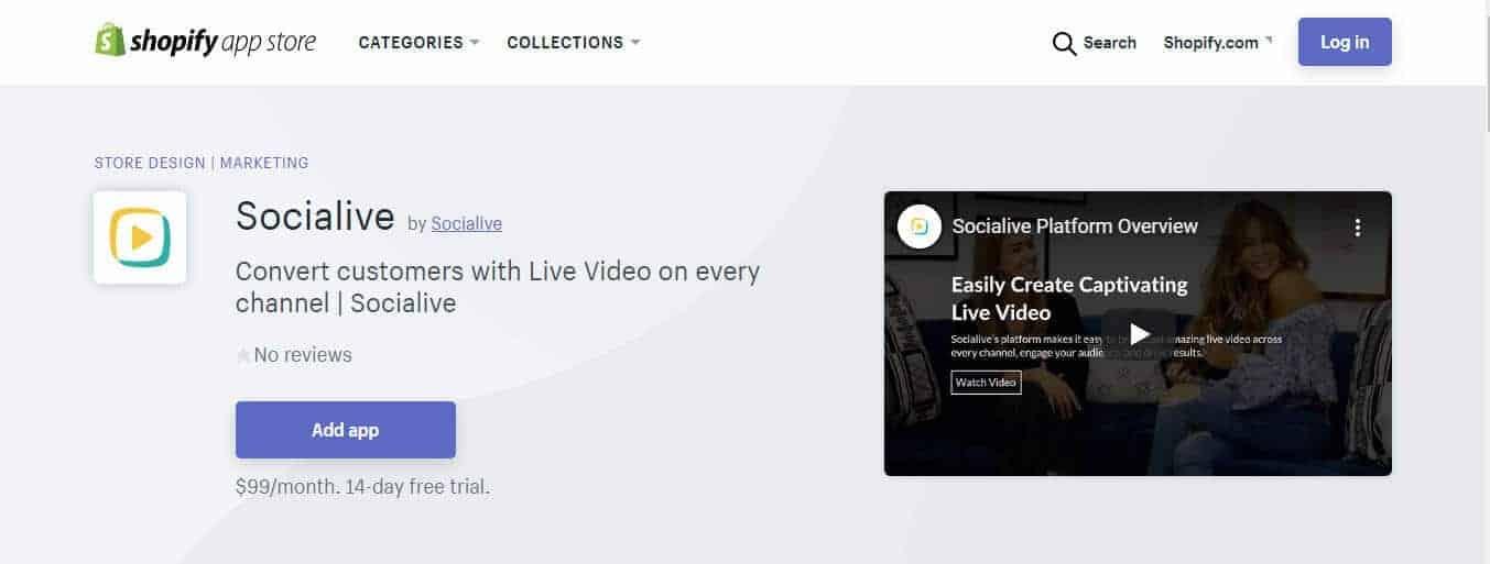 Socialive Livestream for Shopify